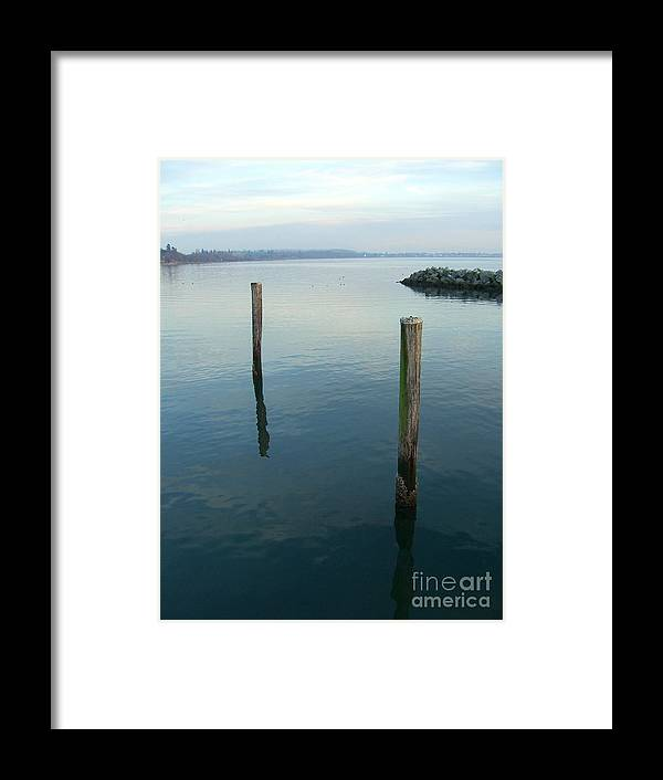 Water Framed Print featuring the photograph White Rock Water by Jim Thomson