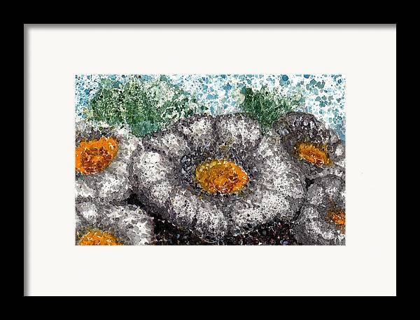 Watercolor Framed Print featuring the painting White Saguaro Cactus Blossom by Cynthia Ann Swan