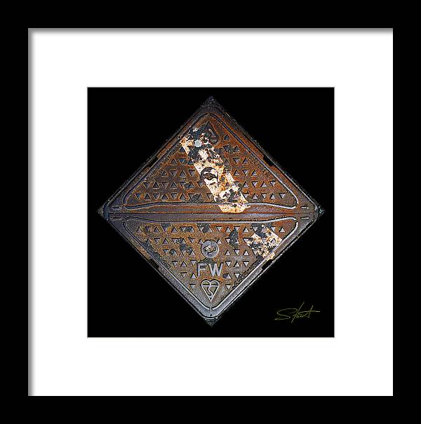Grating Framed Print featuring the photograph White Stripe Diamond by Charles Stuart