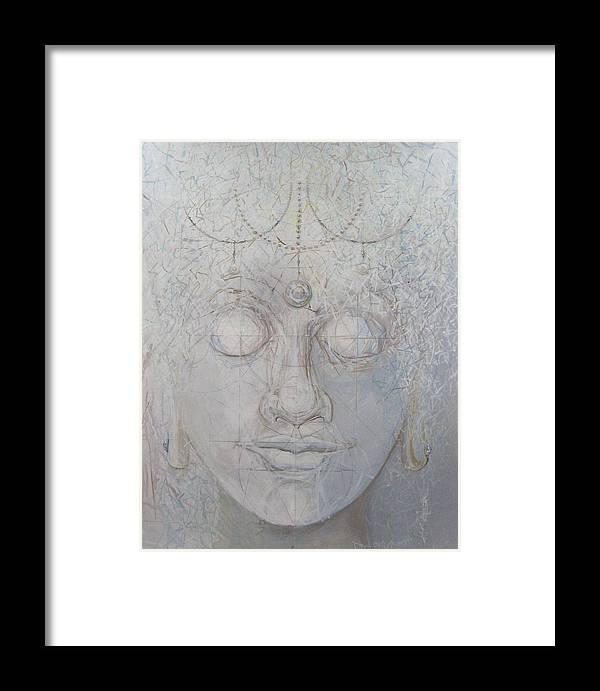 Buddha Framed Print featuring the print White Tara by David McKee