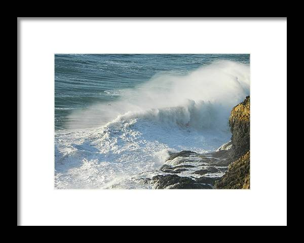 Oregon Framed Print featuring the photograph White Wave Sprays by Gallery Of Hope