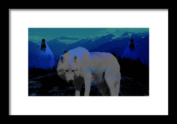 Wolves Framed Print featuring the photograph White Wolves by Evelyn Patrick