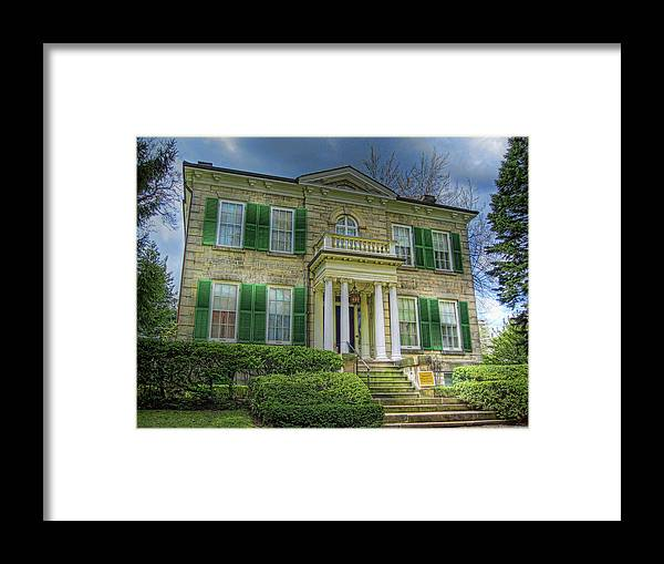 Whitehern Framed Print featuring the photograph Whitehern by Larry Simanzik