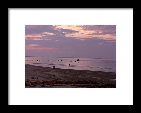 Sunset Framed Print featuring the photograph Whitehorse Beach - Sunset by Nancy Ferrier