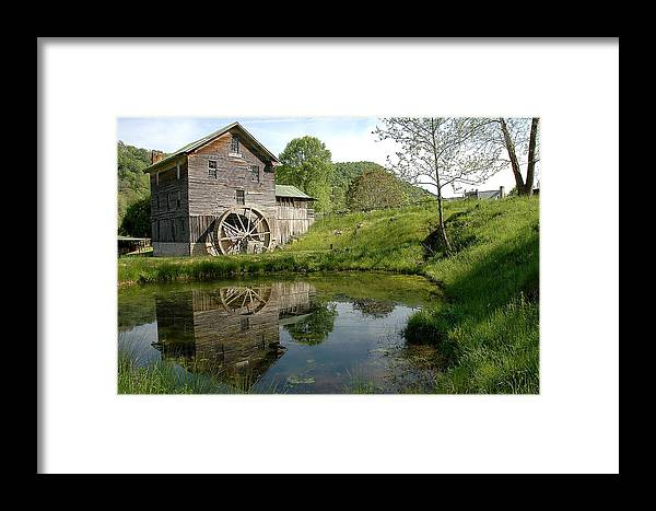 Mill Framed Print featuring the photograph White's Mill by Alan Lenk