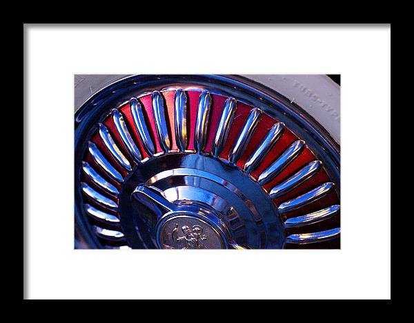Whitewall Tire Framed Print featuring the photograph Whitewall Roulette by Richard Henne