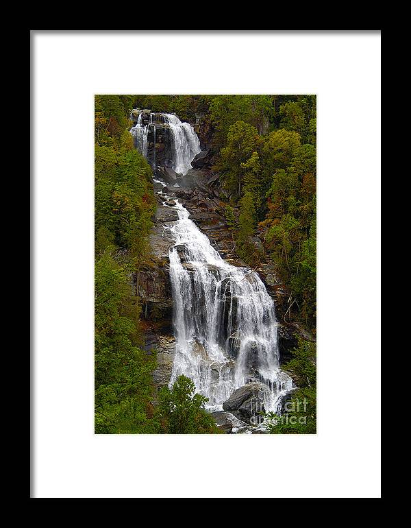 Waterfall Framed Print featuring the photograph Whitewater Falls by Neil Doren