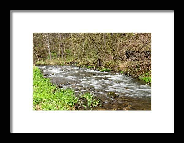 River Framed Print featuring the photograph Whitewater River Spring 44 by John Brueske