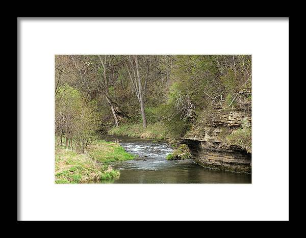 River Framed Print featuring the photograph Whitewater River Spring 45 A by John Brueske