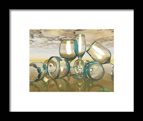3d Framed Print featuring the painting Chardonnay by Williem McWhorter