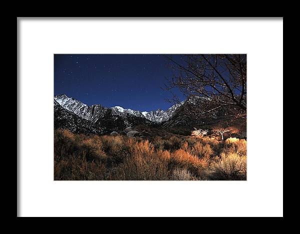 Landscape Framed Print featuring the photograph Whitney Campground View by Duane Middlebusher