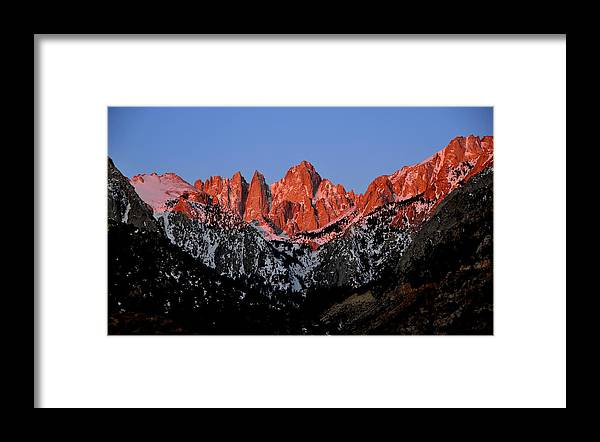 Landscape Framed Print featuring the photograph Whitney Sunrise by Duane Middlebusher