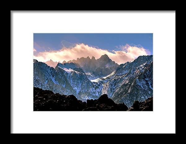Landscape Framed Print featuring the photograph Whitney Sunset by Duane Middlebusher
