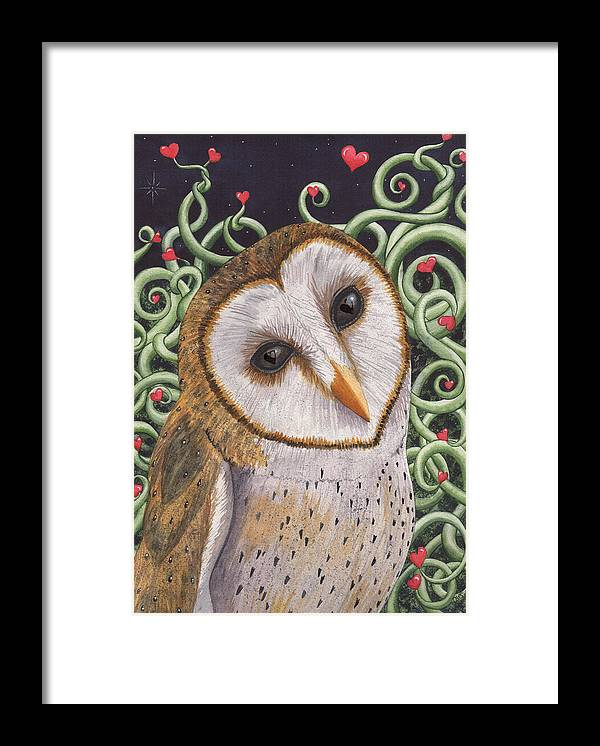 Owl Framed Print featuring the painting Who do you love ? by Catherine G McElroy