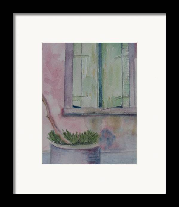 New Orleans Art Framed Print featuring the painting Who Is Looking Out by Marian Hebert