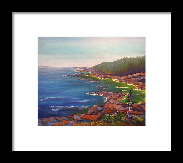 Ocean Framed Print featuring the painting Who Is Out There? by Brent Ciccone