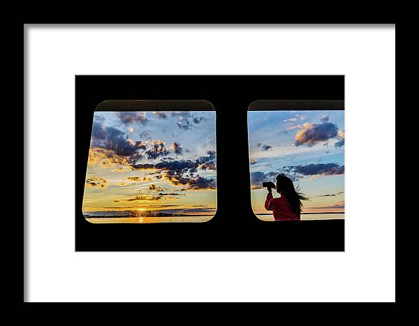 Sunset Framed Print featuring the photograph Who Watches The Watcher? by John Gagnon