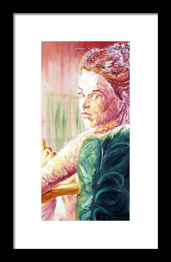 Portrait Framed Print featuring the painting Whos That Girl by LB Zaftig