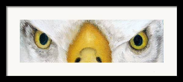 Eagle Framed Print featuring the painting Whos Watching Who Eagle by Darlene Green