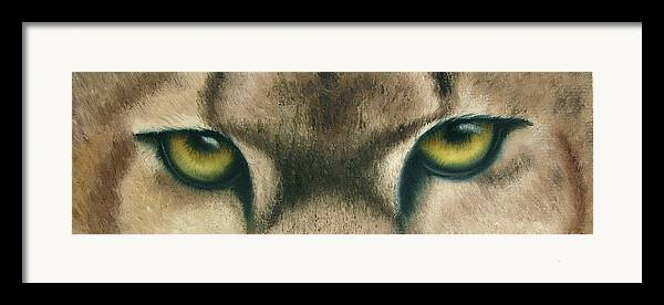 Panther Eyes Framed Print featuring the painting Whos Watching Who Panther by Darlene Green