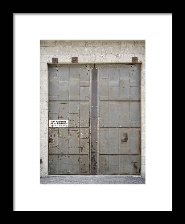 Architecture Framed Print featuring the photograph Whose Autorization by Viktor Savchenko