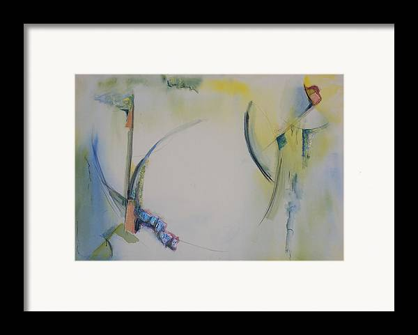Abstract Framed Print featuring the painting Why by Kevin Stevens