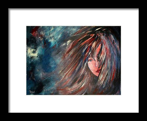 Portrait Framed Print featuring the painting Why by Robin Monroe