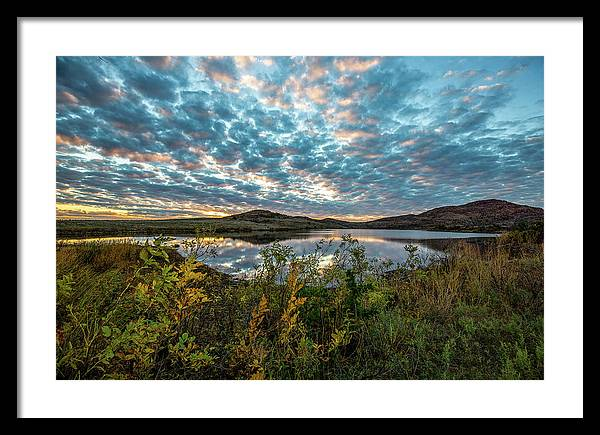 Wichitas Wonder - Mackerel Sky and Fall Sunset in Southwest Oklahoma by Southern Plains Photography