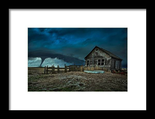 Tornado Framed Print featuring the photograph Wicked by Thomas Zimmerman