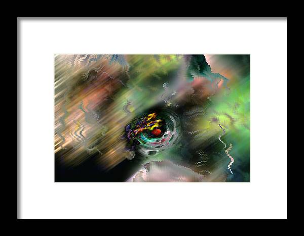 Abstract Framed Print featuring the digital art Widdershins by James Estes