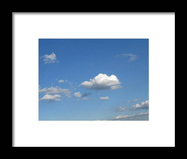 Clouds Framed Print featuring the photograph Wide Open by Rhonda Barrett