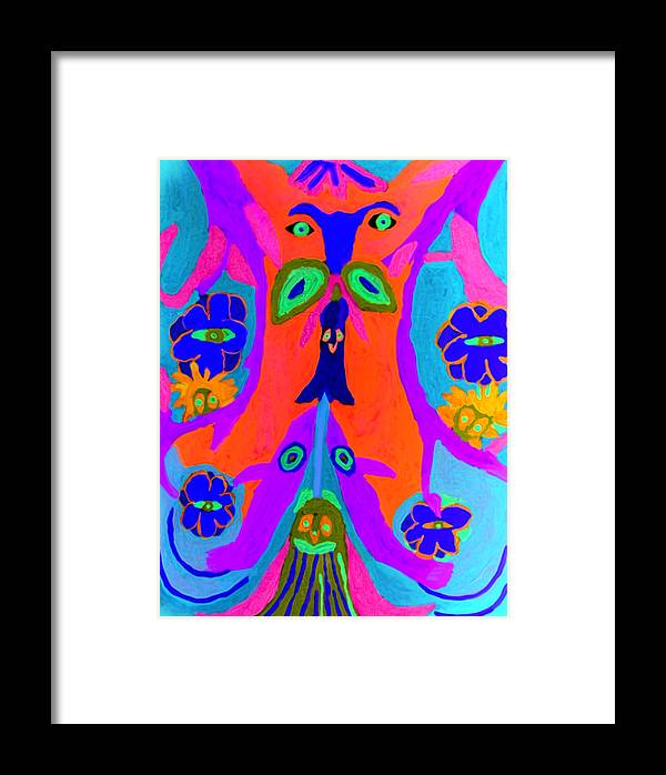 Framed Print featuring the painting Widgets by Betty Roberts