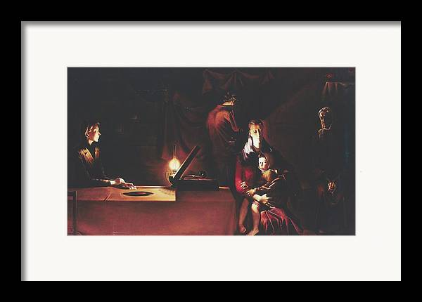 Figures Framed Print featuring the painting Widows by Andrej Vystropov
