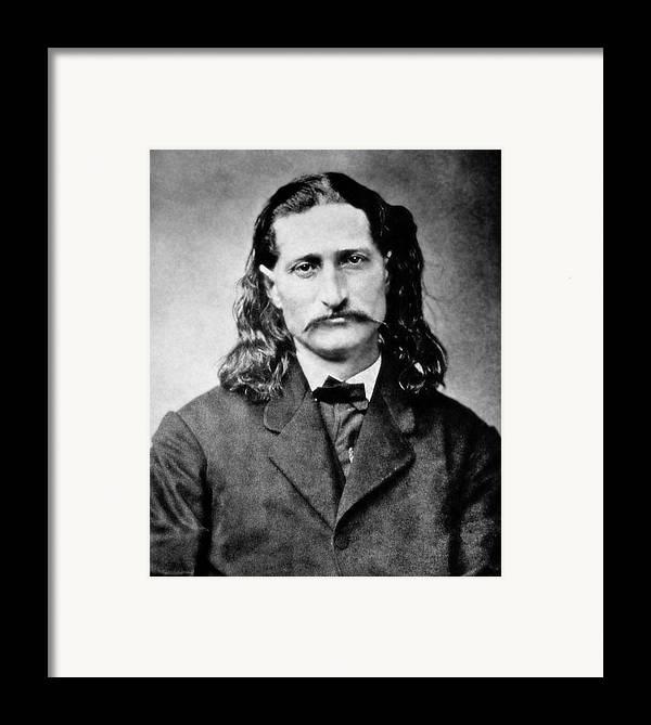 wild Bill Framed Print featuring the photograph Wild Bill Hickok - American Gunfighter Legend by Daniel Hagerman