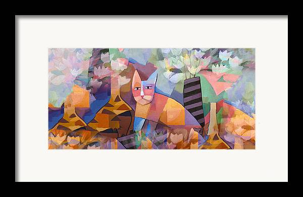 Cats Framed Print featuring the painting Wild Cat Blues by Lutz Baar