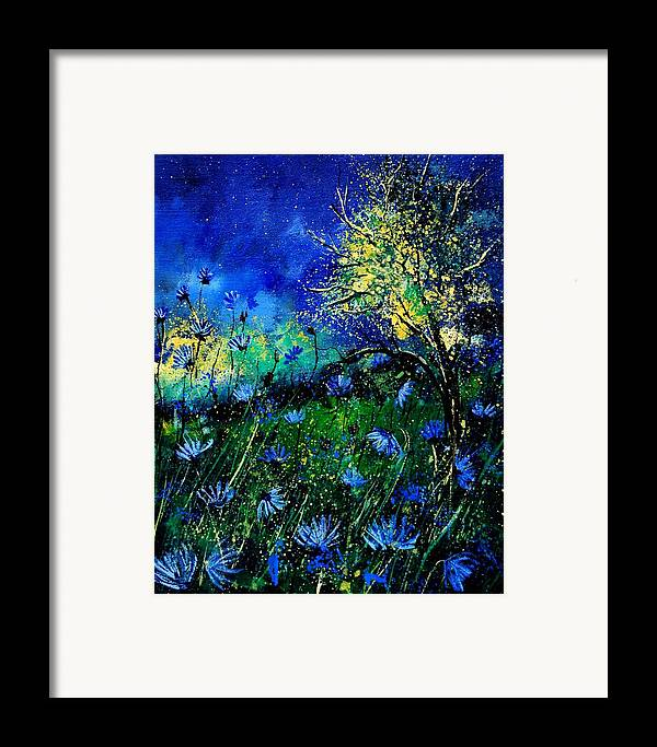 Poppies Framed Print featuring the painting Wild Chocoree by Pol Ledent