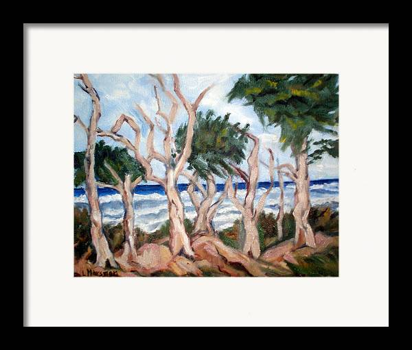 Ocean Framed Print featuring the painting Wild Coast by Lia Marsman