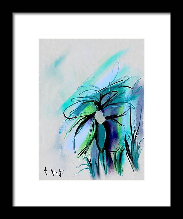 Ipad Painting Framed Print featuring the digital art Wild Flower Abstract by Frank Bright
