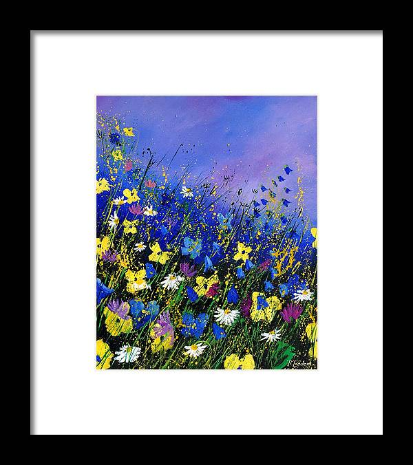 Flowers Framed Print featuring the painting Wild flowers 560908 by Pol Ledent