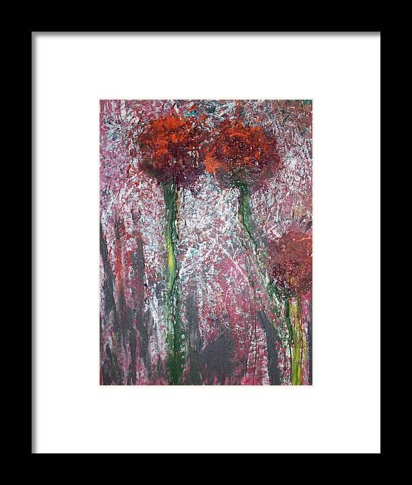 Encaustics Framed Print featuring the painting Wild Flowers by Jennifer Addington