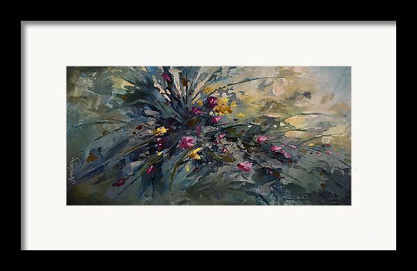 Flowers Framed Print featuring the painting 'wild Flowers' by Michael Lang
