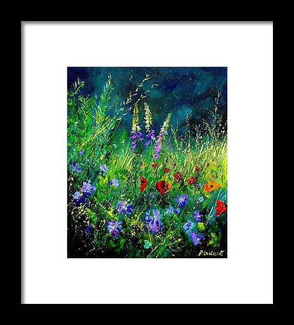 Poppies Framed Print featuring the painting Wild Flowers by Pol Ledent