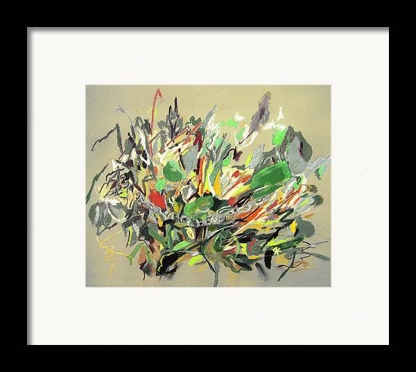 Fantasy Framed Print featuring the painting Wild Flowers by Tadeush Zhakhovskyy