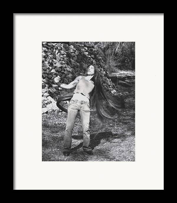 Hair Framed Print featuring the photograph Wild Hair by Debbie May