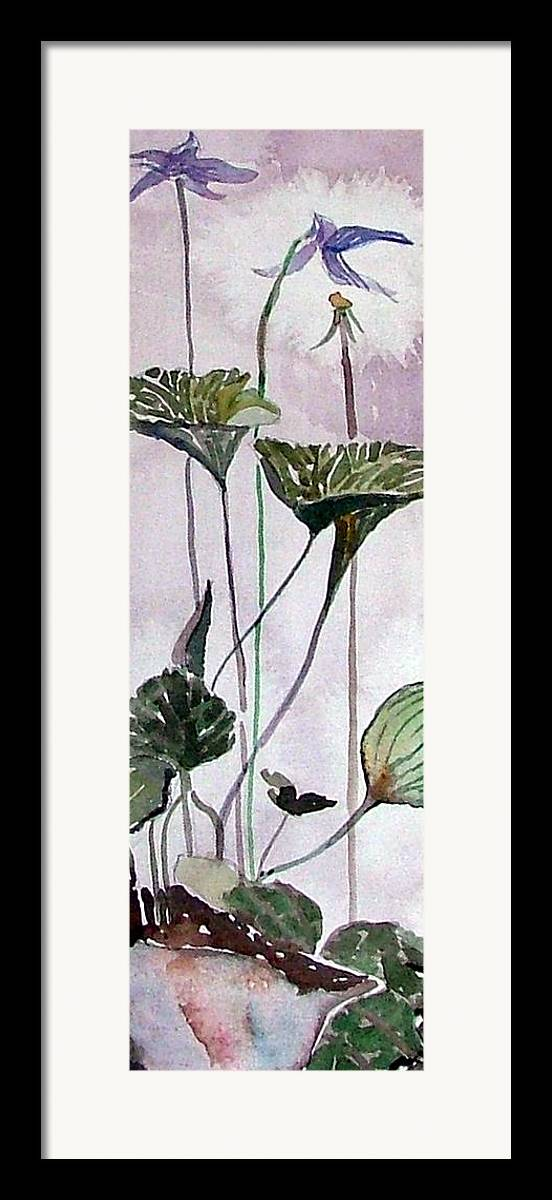 Orchid Framed Print featuring the painting Wild Orchid by Mindy Newman