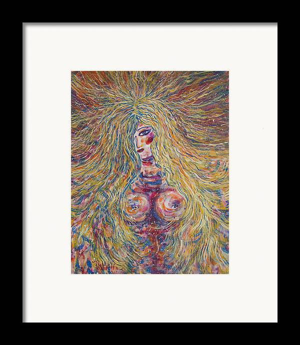 Nude Framed Print featuring the painting Wild Passion by Natalie Holland