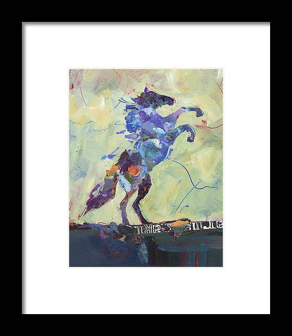Horse Framed Print featuring the painting Wild Pony by Shelli Walters