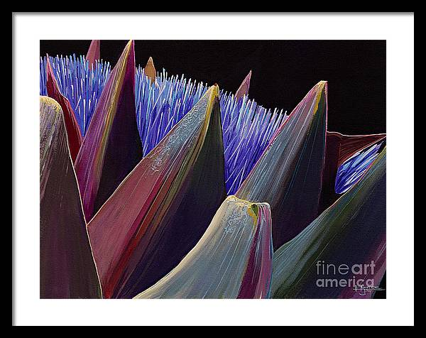 Artichoke Framed Print featuring the painting Wild Seed by Hunter Jay
