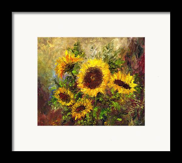 Vincent Van Gogh Framed Print featuring the painting Wild Sun by Laura Swink