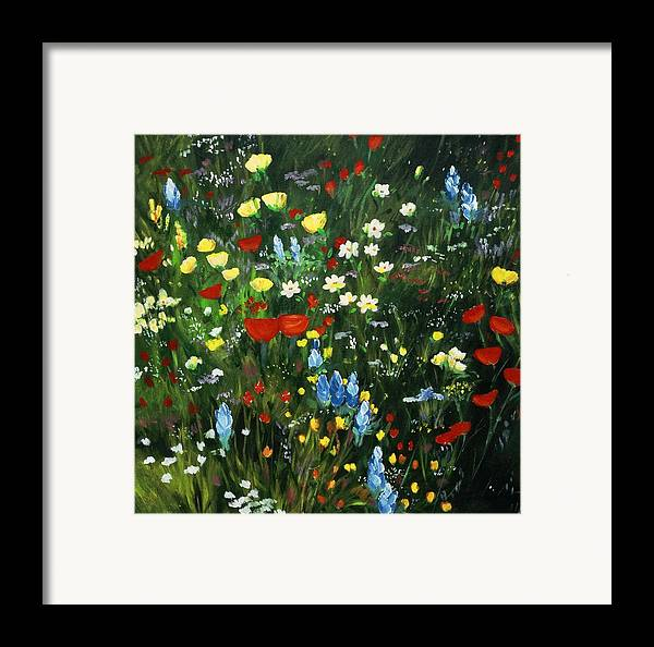 Painting Framed Print featuring the painting Wild Things by Carrie Allbritton